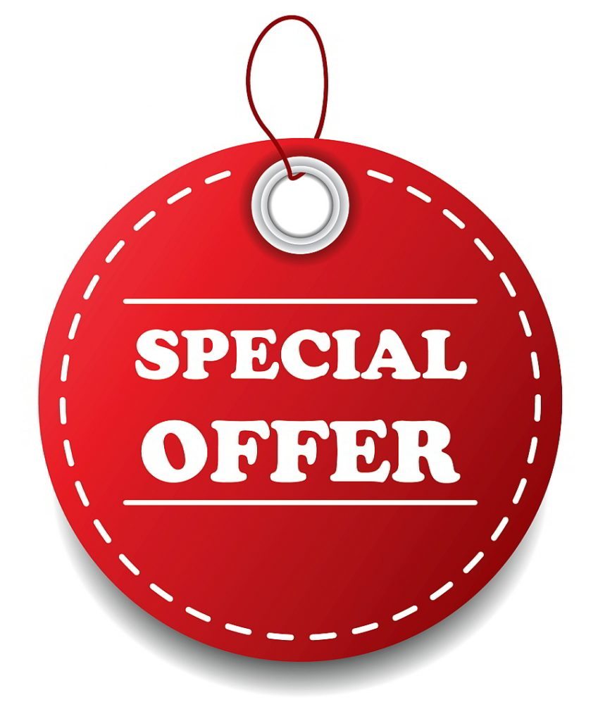 Special Offers - check regularly check for new ones