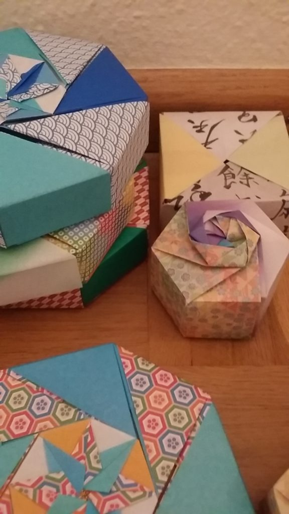 origami boxes to put your treasures in