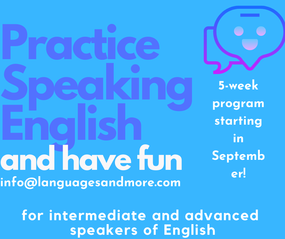 Practice speaking English and have fun