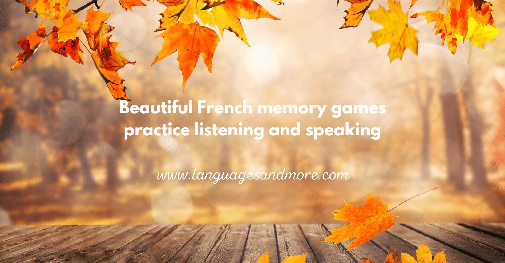 Interactive memory game - French autumn/fall vocabulary