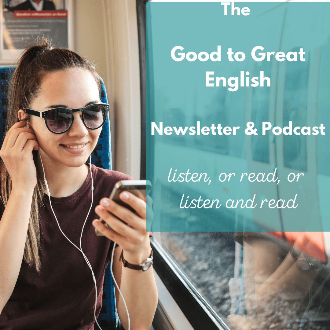 woman listens to the podcast and reads the newsletter at the same time for better learning
